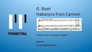 Video Habanera from Carmen, G. Bizet, Karaoke by Pianopal download MP3, 3GP, MP4, WEBM, AVI, FLV September 2018