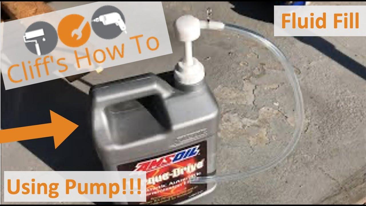 Adding Transmission Fluid Through Side Fill Hole