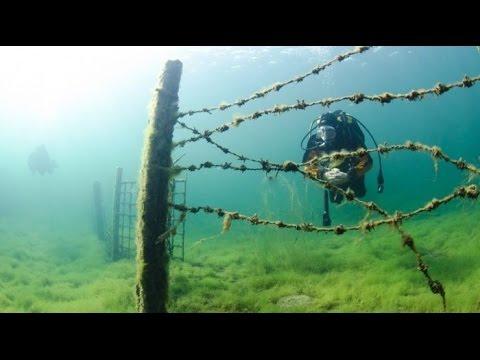 Заброшенная подводная тюрьма.Эстония.Scooter Dive in Rummu