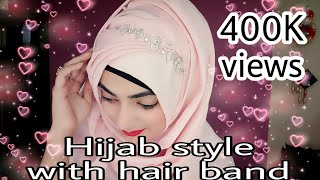 Hijab Style with Hair Band, Accessories Ft. Dubai Abhaya store