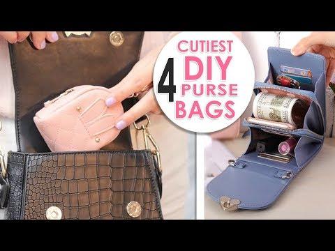 ~WOW~ DIYs PURSE BAG EVER 5~10 MIN MAKING // Cute Pouch & Phone Case Tutorial