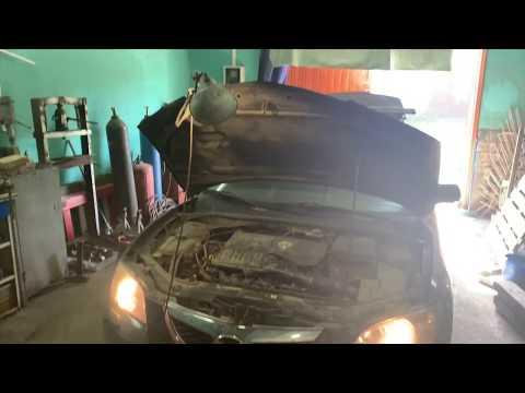 Замена датчика детонации  на Mazda 3 bk!