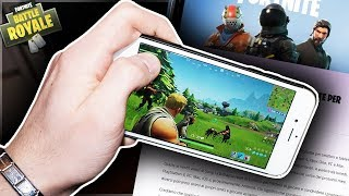 AUJOURD'HUI OUT FORTNITE POUR TELEFONO!😱 COMMENT DOWNLOAD FORTNITE ON IPHONE! CODES GRATUITS!