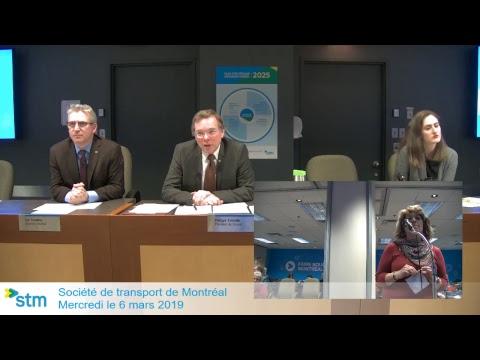 Séance du conseil d'administration du 6 mars 2019