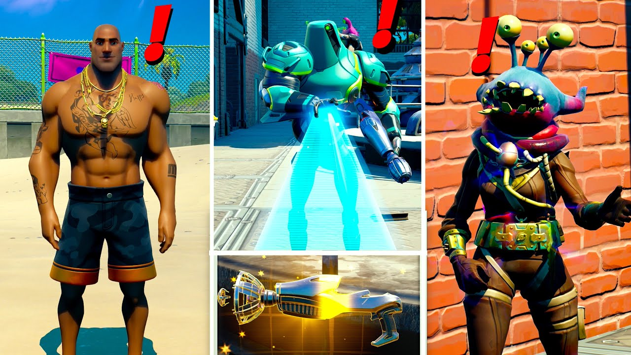 Download Fortnite Update MEGA Boss ZYG and Choppy Location and Mythic Weapons Guide!