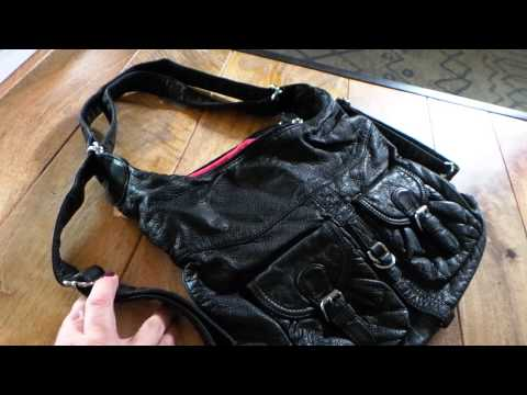Convertible Black Backpack Soft Vegan Leather Crossbody by Ampere Creations