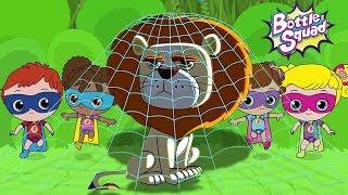 Going On A Lion Hunt | Kinder-Abenteuer | Flasche Squad Stories | Superhelden-Cartoons | Kleinkind-Videos