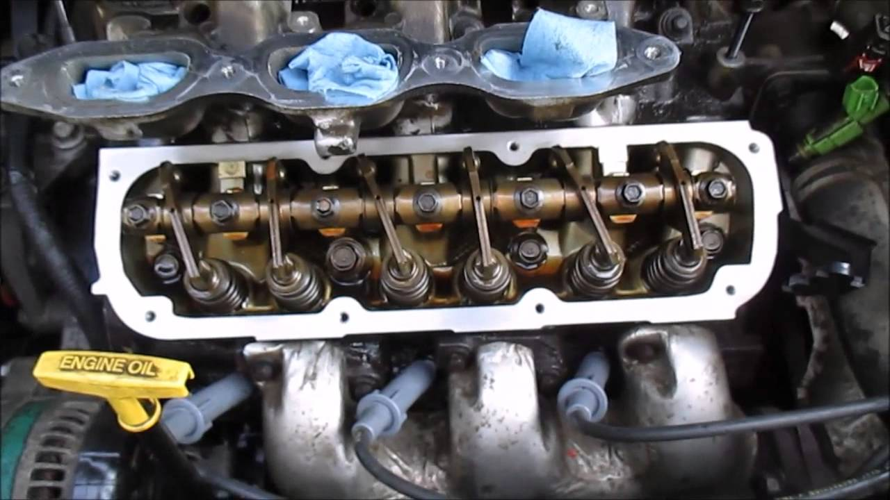 How To Replace Valve Cover Gaskets Dodge Caravan Part 2  YouTube