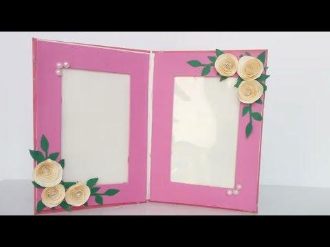 DIY Photo frame Ideas// How to make a Unique & Easy Photoframe  Ideas/easy paper craft/