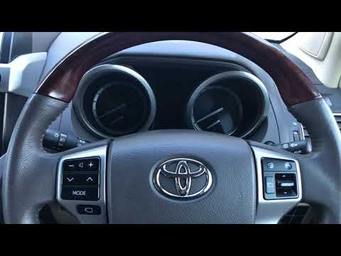 How To Reset Oil Maintenance Data Or Service Light Resetting On Toyota Land Cruiser 2014-2017