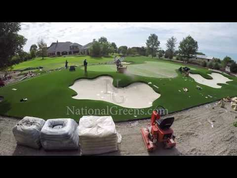 Extreme Putting Green Build  By National Greens