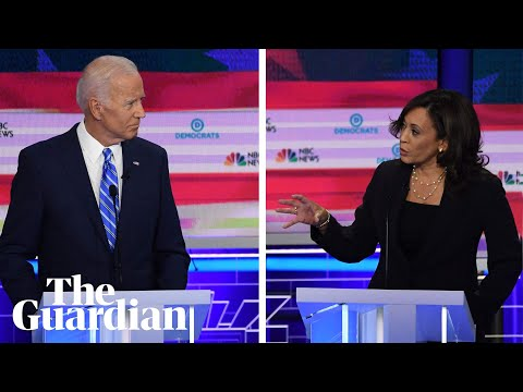 Kamala Harris attacks Joe Biden's record on race in Democratic debate