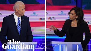 Kamala Harris attacks Joe Biden's record on race in Democratic debate