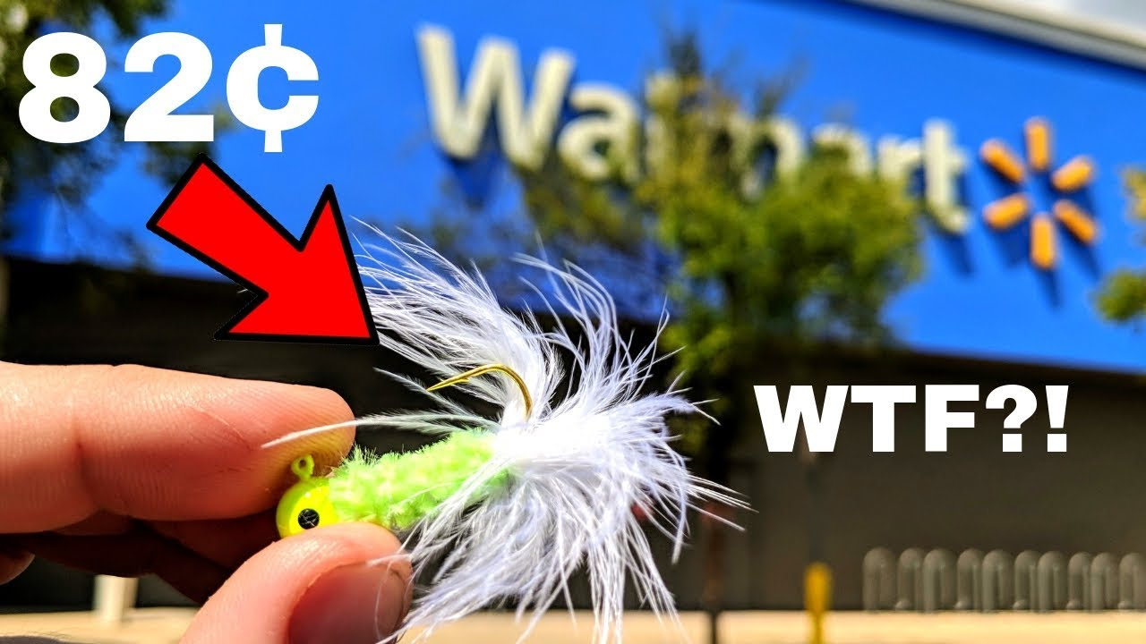 Fishing w/ CHEAPEST Fishing Lure at WALMART (Surprising!!!)