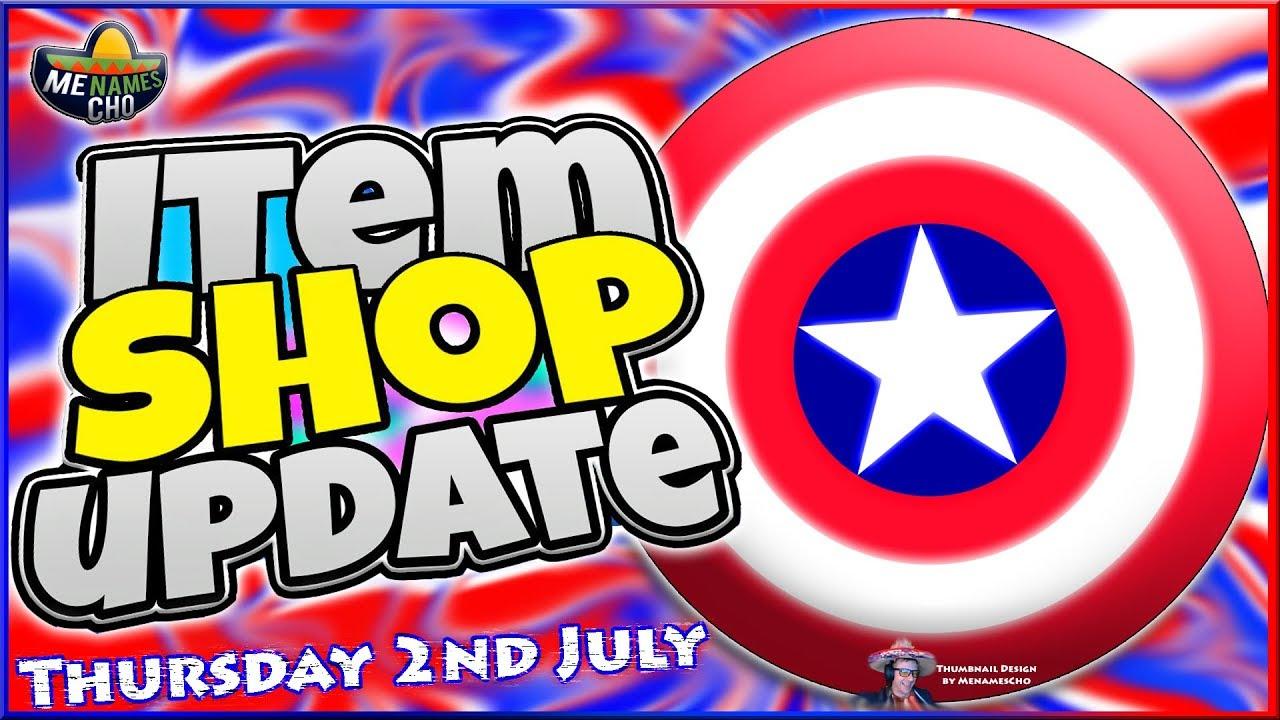 💥FORTNITE ITEM SHOP UPDATE ⭐ Captain America ⭐ LIVE - 2nd July 2020 (Fortnite Battle Royale)