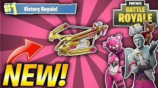 NEW CROSSBOW GAMEPLAY! VALENTINES DAY UPDATE! NEW SKINS! (Fortnite Battle Royale)