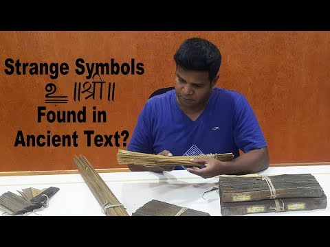 Ancient Secret of Symbols Found in Palm-Leaf Manuscripts? Indian Writing System Revealed