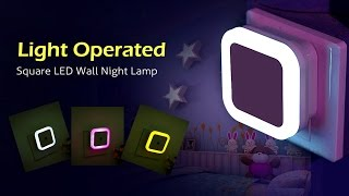 Light Operated Square LED Wall Night Lamp