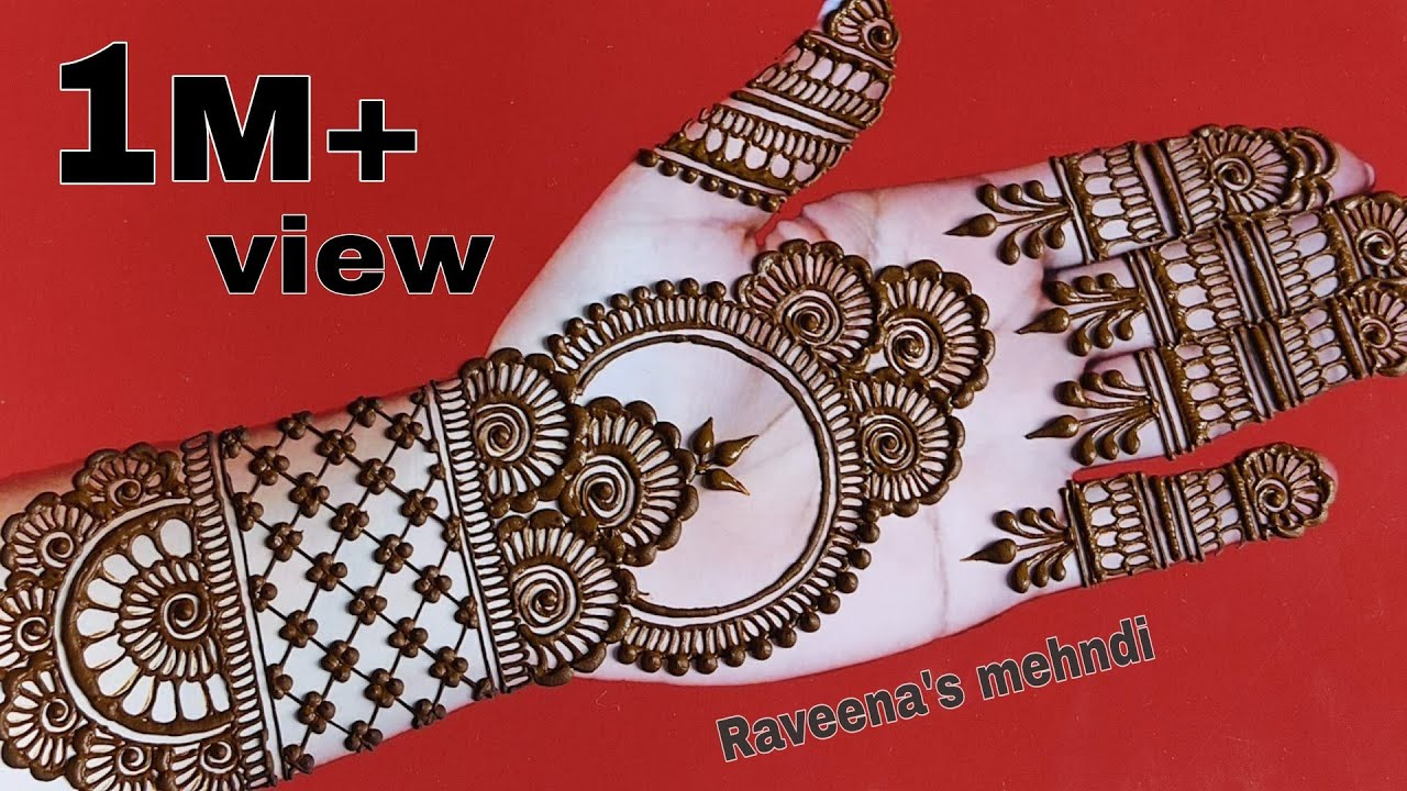 Download simple dulhan hand mehndi design   attractive front hand bridal full hand mehndi design 