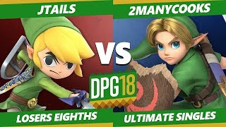 Smash Ultimate Tournament - Jtails (Toon Link, Ness) Vs. 2manyCooks (Young Link) DPOTG18 SSBU LT8