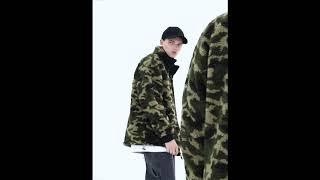 [ 위스커 ] 양털 카모 오리털 캐주얼 수입 겨울 점퍼