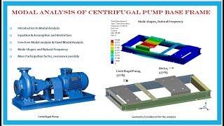 Modal Analysis of centrifugal pump base frame using ASNYS Workbench
