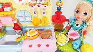 뽀로로  겨울왕국 달님이 요리하는 주방놀이 장난감 소꿉놀이 pororo Disney Frozen Elsa Kitchen toys Кухонные игрушки