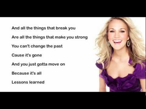 Lessons Learned- Carrie Underwood (with lyrics)