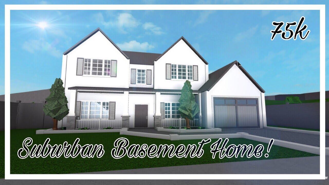 Bloxburg: Suburban House With A Basment! (75k