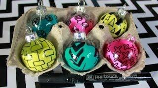 Diy Doodled Ornaments
