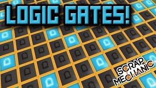 LOGIC GATES Update! LIGHT STRIPS! Bonus Scrap Mechanic Gameplay (Epilepsy Warning)