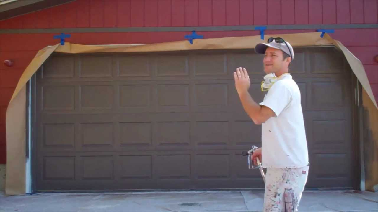 Garage door interior trim - Painting A Garage Door Youtube