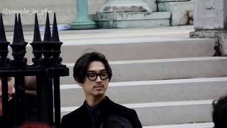 The japanese actor Matsuda Shota 松田翔太 at the Givenchy fashion s...