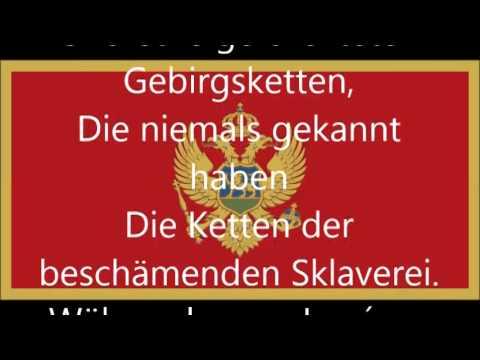 Nationalhymne von Montenegro (deutsche Übersetzung)