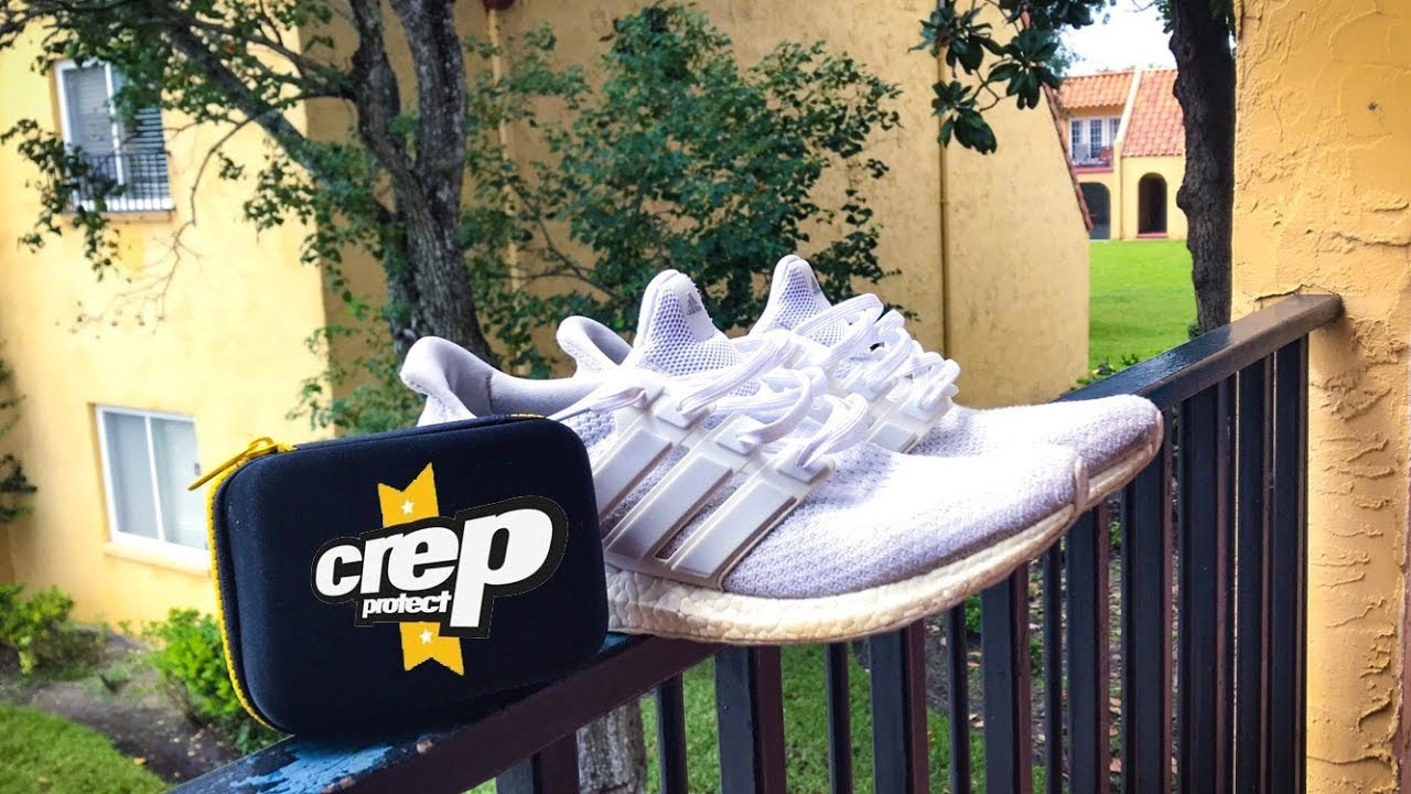 66b12a40442e8 HOW TO CLEAN WHITE SHOES w  CREP PROTECT CURE (Adidas Ultra Boost ...