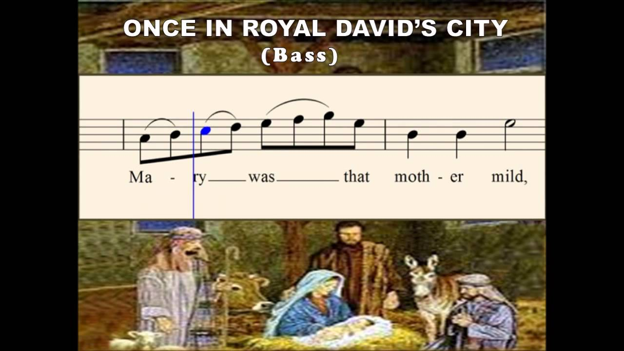 Q28d Once in Royal David City - A Christmas Song (Bass) - YouTube