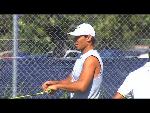 Rafael Nadal Practice in Mallorca, 19 June 2017
