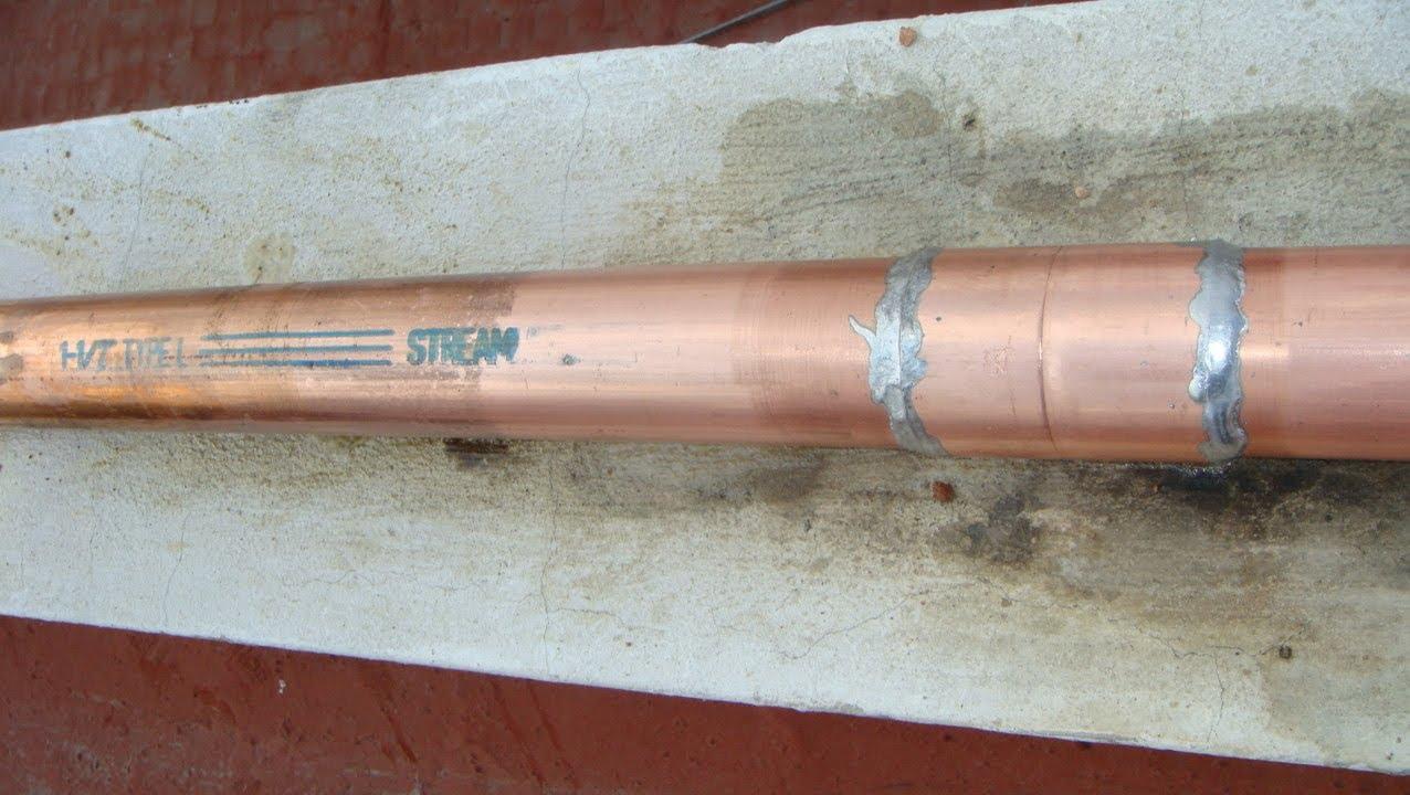 Soldadura de cobre l con 95 5 y 50 50 contunuaci n for Como soldar cobre