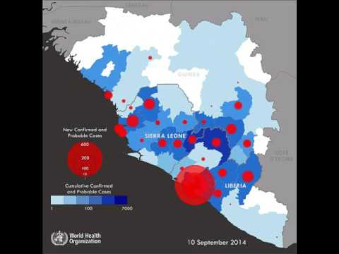 Animated Upto date Map of Ebola Outbreak