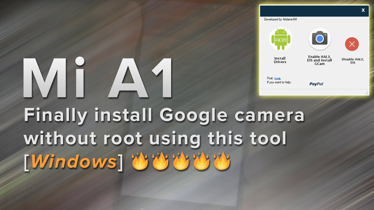 TOOL] Google Camera without root/magisk (E… | Xiaomi Mi A1