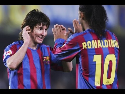 Messi acepta que aprendió todo de Ronaldinho y lo mejor de Ronaldinho