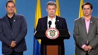 Presidente Santos al término de las Elecciones Regionales 2015 - 25 de octubre de 2015