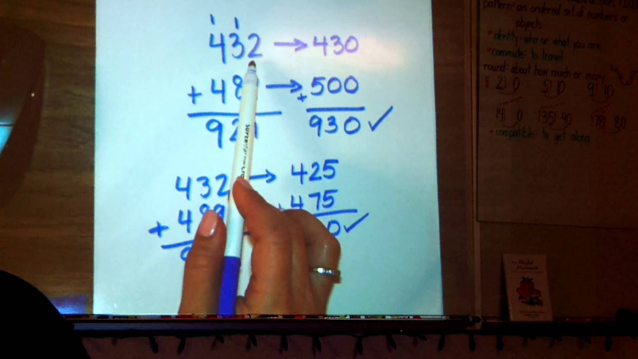 Estimating Sums:Go Math! Common Core Chapter 1, Lesson 4 - YouTube