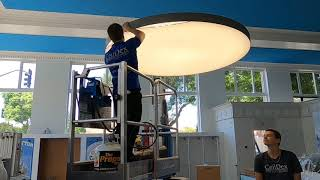8' round light fixture installation process
