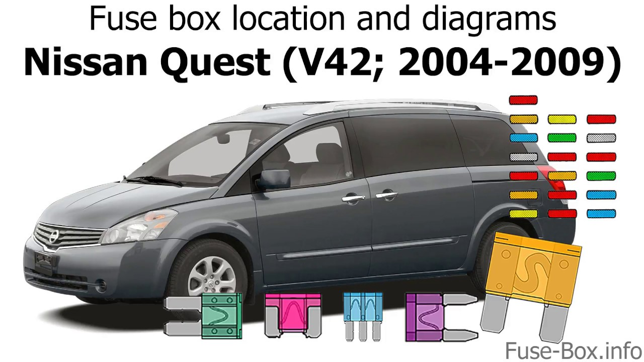 Fuse box location and diagrams: Nissan Quest (2004-2009) - YouTubeYouTube