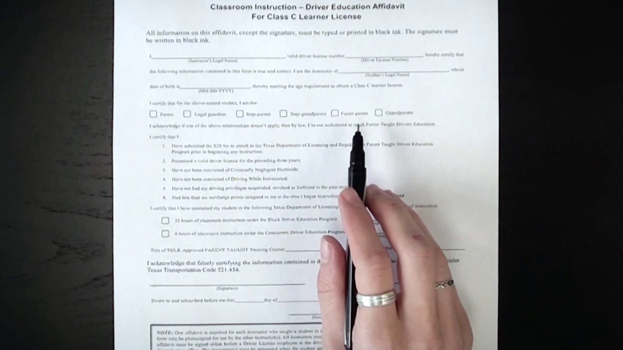 How to Fill Out Texas DPS Permit Forms - YouTube