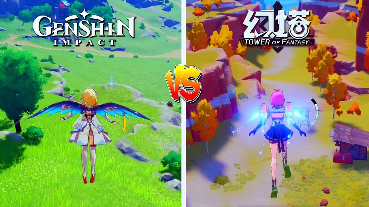 Um jogador faz um vídeo comparando Genshin Impact e Tower of Fantasy