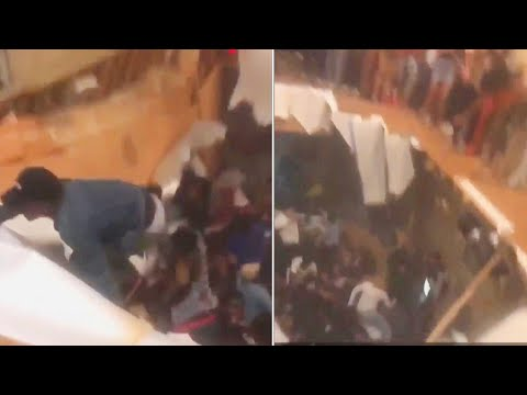 The Woody Show - Scary Moment Floor Collapses at Homecoming Party