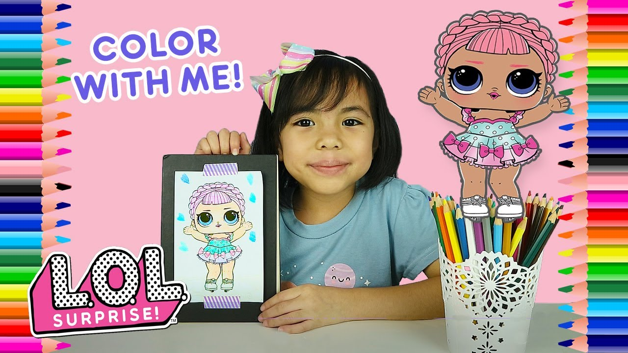 Coloring lol ice sk8ter coloring page color lol ice skater surprise dolls color with patty