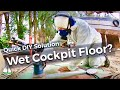 Cockpit Floor Repairs - Water Drainage  - NO WET SOCKS!  (Patrick Childress Sailing #56)